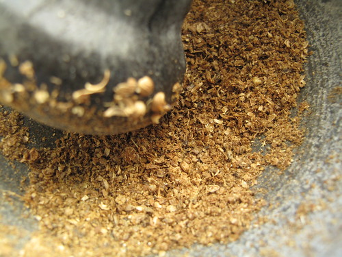 Crushed dry spices