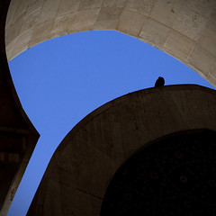Blue shape at Hassan II Mosque (pas le matin) Tags: silhouette backlight silhouettes mosque morocco maroc mezquita casablanca contrejour moschea mosque moskee moschee hassaniimosque mosquehassanii platinumheartaward mesquita