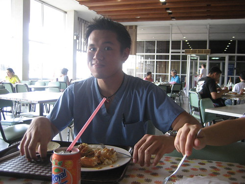 Me eating at IRRI.  IRRI has the best cafeteria in UPLB, no doubt!