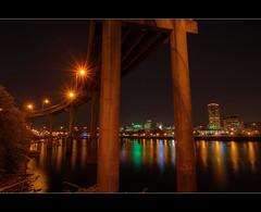 Portland Skyline 11 - HDR (David Gn Photography) Tags: bridge oregon portland pdx willametteriver hdr nightline photomatix portlandskyline sigma1020mmf35exdchsm canoneosrebelt1i