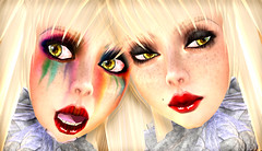 MIASNOW RAINBOW GOTH GIRLS (MiaSnow) Tags: world girls digital rainbow skins tears goth virtual pixel creations skindesign miasnow miasnowmyriam rainbowgothgirls secondlifeslpale skinrainbow