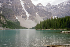 Moraine Lake, Banff National Park, Alberta, AB, Canada, 2002 (ynysforgan_jack) Tags: pictures park travel 2002 vacation mountain lake holiday canada mountains tourism nature landscape landscapes photo holidays image photos picture rocky ab images canadian national alberta banff rockymountains vacations moraine albertacanada banffnationalpark morainelake canadianrockies therockies canadianrockymountains travelalberta rockymountainscanada albertaca albertavacation albertatourism