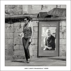 Una visin potica (Ariasgonzalo) Tags: portrait bw blancoynegro blackwhite gente bn retratos segovia callejeando paisajeurbano