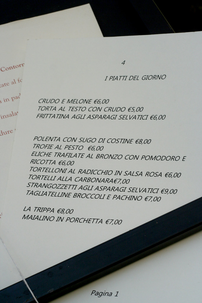 Spello Umbria menu_7738