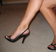 I just love these shoes!! (True Blue!) Tags: feet toes legs pies heels pedicure calf pinkpolish womensfeet