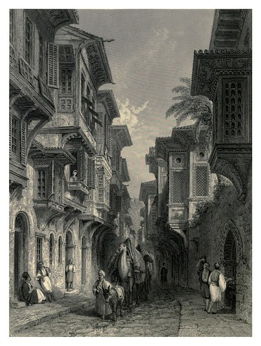 032-Una calle en Esmirna-The gallery of Scripture engravings, historical and landscape Vol II