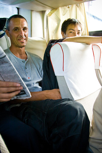 Leg room can be an issue on Chinese buses.