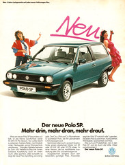 VW Polo SP (1983) (jens.lilienthal) Tags: auto classic cars car vw vintage volkswagen print advertising media reclame ad voiture historic advertisement sp oldtimer 1983 autos werbung polo reklame voitures anzeige youngtimer