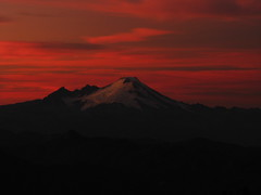 Mount Baker at Sunset from Three Fingers