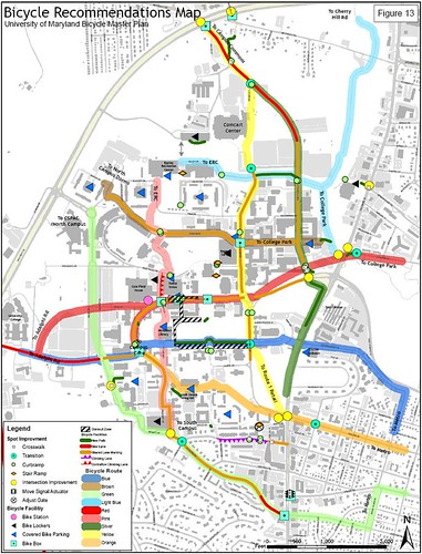 UMCP Campus Bike Plan Improvement Recommendations
