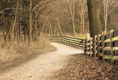 Journey (lynne_b) Tags: autumn nature sepia rural fence landscape illinois path farm archives naturecenter serenitynow explored volkenheritagefarm pathscaminhos