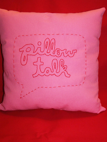 project 5: embroidered text pillow