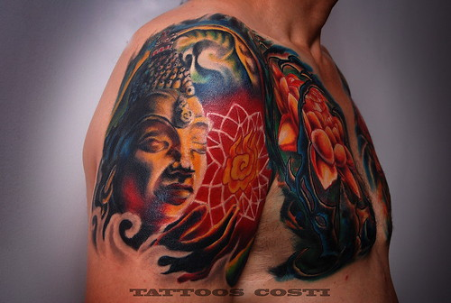 buddha tattoo by tattoos_costi