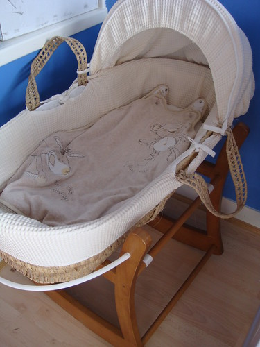 Moses basket ready and waiting