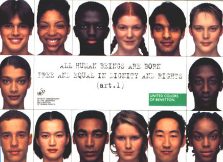 Image selected for Awesome and Controversial Ads from Benetton