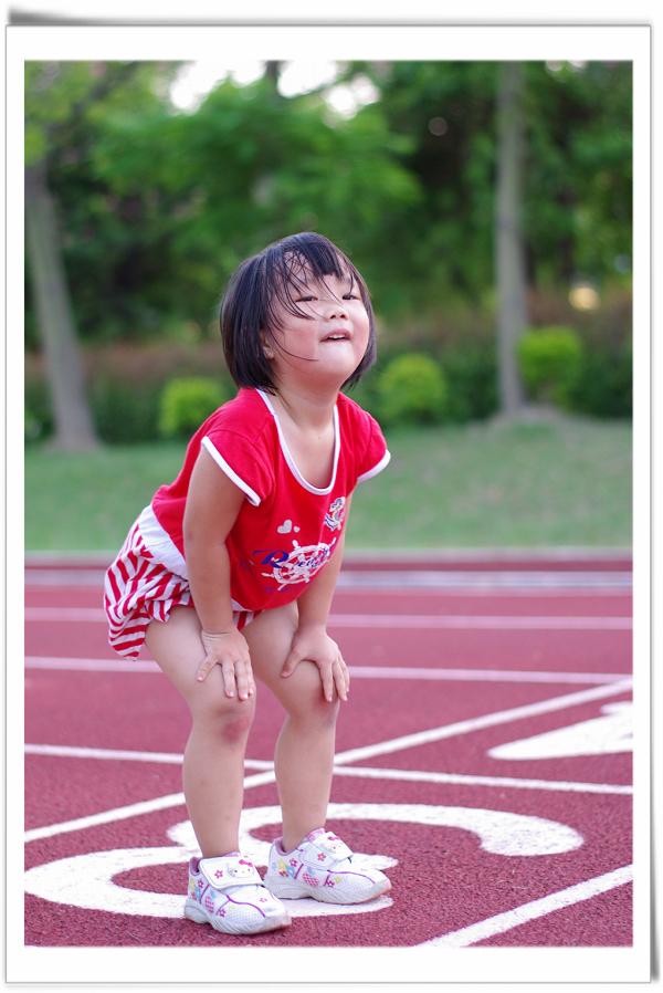 我們家的寶貝-學校跑步