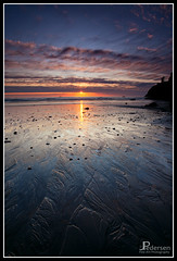 Ruby Sands (jpeder55) Tags: ocean sunset sky reflection beach clouds canon washington sand surf patterns olympicpeninsula olympics rubybeach olympicpenninsula landscapephotograph