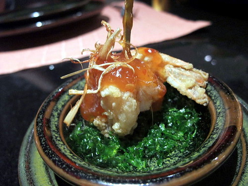 Amouse Bouche: Cripsy Fried Prawns with Tamarind Sauce