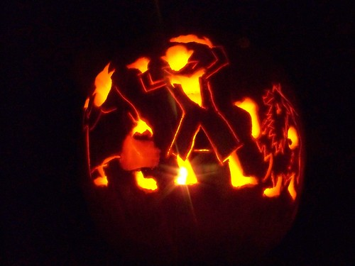 hitchhiking ghosts jack-o-lantern