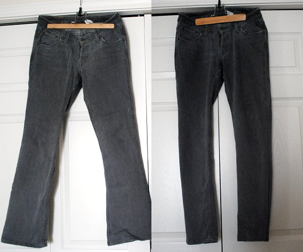 DIY Straight Leg Jeans
