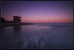 Dusk at Mazotos shore (-Filippos-) Tags: longexposure sea coast mediterranean dusk cyprus shack 2008     mazotos