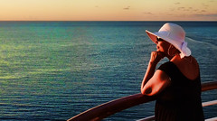 Sunset Moment on the Cruise (Jeff Clow) Tags: travel cruise vacation holiday lady getaway caribbean relaxation jeffrclow