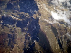 clouds over provence (kexi) Tags: wallpaper france mountains clouds wow flying high nikon october view aerial coolpix provence 2009 rugged windowseat instantfave thebestofday