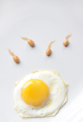 The Birds And The Beans (Michelle in Ireland) Tags: yellow beans egg sperm explore friedegg bakedbeans representation birdsandthebees iwon informalinhousecompetition tallaghtphotographicsociety