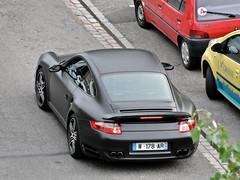 Porsche 911 Turbo (Alexandre Prvot) Tags: black france car sport automobile noir parking transport 911 voiture route mat turbo porsche nancy turismo lorraine nero schwarz coup porsche911 granturismo 997 ges nego dplacement fullblack worldcars noirmat type997 twodoorcar grandestsupercars