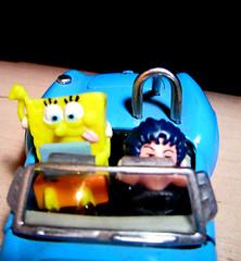 Workaholic SpongeBob (Monja  con  patines) Tags: holiday car dr laptop cartoon bob mini doctor spongebob esponja squarepants workaholic slump mashirito