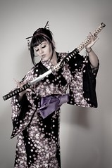 Ginger Roze Geisha 95 (Marc VALLEE) Tags: woman sexy girl ginger nikon sabre geisha kimono katana tatoo roze tatouage percing d90