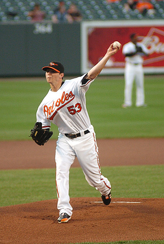 Oriole pitcher Zach Britton