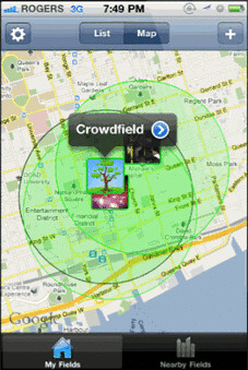 Crowdfield app screenshot