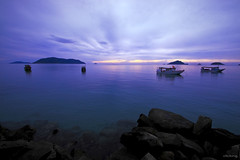Blue dawn (-clicking-) Tags: ocean lighting blue sea sky sunlight beautiful clouds sunrise landscape boats island dawn amazing cloudy ships vietnam bluehour colorphotoaward bnhminh cnsn 100commentgroup cno