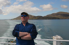 Me on the LOTI leaving South Uist (Hugh Spicer / UIsdean Spicer) Tags: summer june ferry scotland westernisles uist southuist outerhebrides loti lordoftheisles 2011 caledonianmacbrayne lochboisdale bhornais