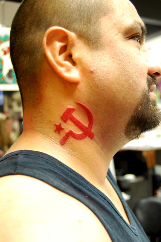 sickle hammer and sickle tattoo tough hammer sickle tattoo and sickle    Hammer And Sickle Tattoo Meaning