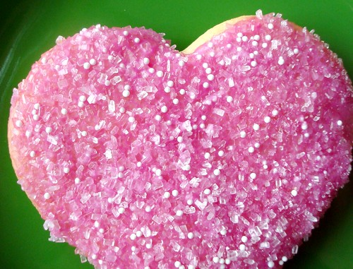 Glitter Heart Cookie
