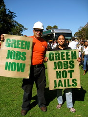 Green Jobs Not Jails! (seaotter22) Tags: green oakland jobs jail ellabakercenter greenjobs greenforall greenjobsrally greenjobsnow