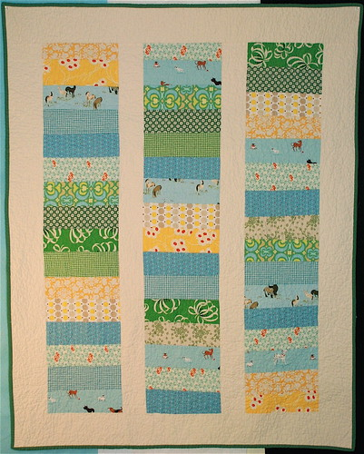 Blue&Green+Yellow Baby Quilt