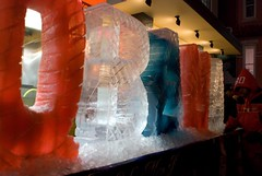 obama ice sculpture (pics-ell) Tags: washingtondc nationalmall inauguration icesculpture barackobama obamania