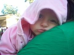 Olivia wakes up!