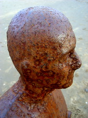 Head 2 (notFlunky) Tags: uk england beach statue metal liverpool rust decay mersey crosby merseyside anthonygormley scouse