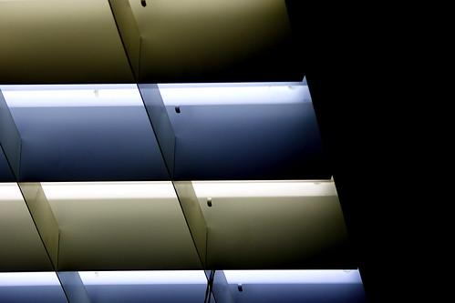 色の違う蛍光灯