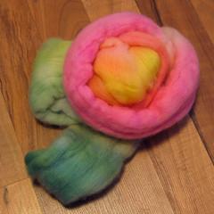 Mardi Gras Rose Fiber