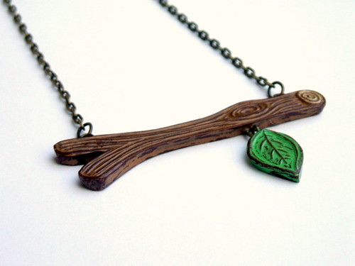Out on  a Limb Series - First Leaf of Spring Necklace
