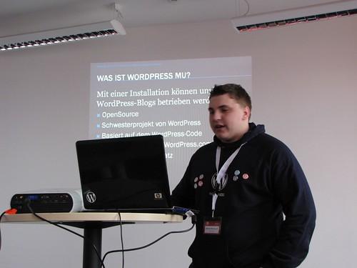 Session mit Dennis Morhardt von WPMU-Deutschland