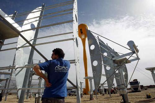 Planta AORA Energía Solar desierto