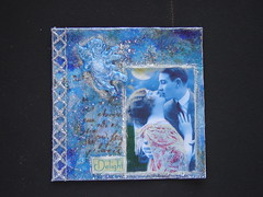 Delight (couleurdarcenciel) Tags: blue art love angel vintage squared