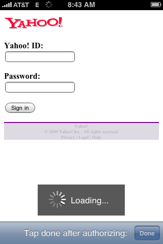 Sign in to Yahoo!