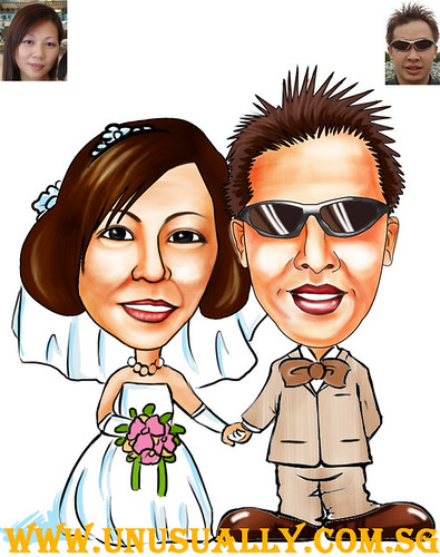 My Custom Wedding Caricature Drawing